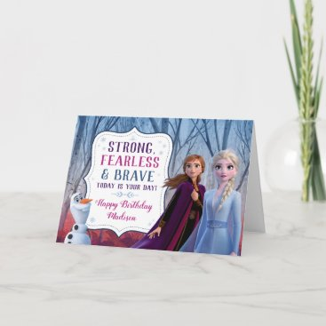 Frozen 2 - Anna, Elsa & Olaf Birthday Girl Card