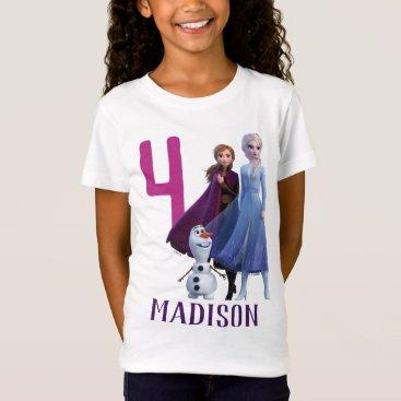 Frozen 2 - Anna, Elsa & Olaf Birthday Girl T-Shirt