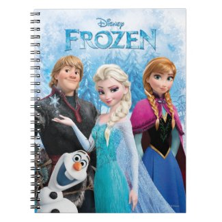 Frozen Group Spiral Notebook