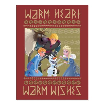 Frozen | Warm Heart Warm Wishes Postcard