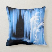 Frozen Waterfall Throw Pillow | Zazzle