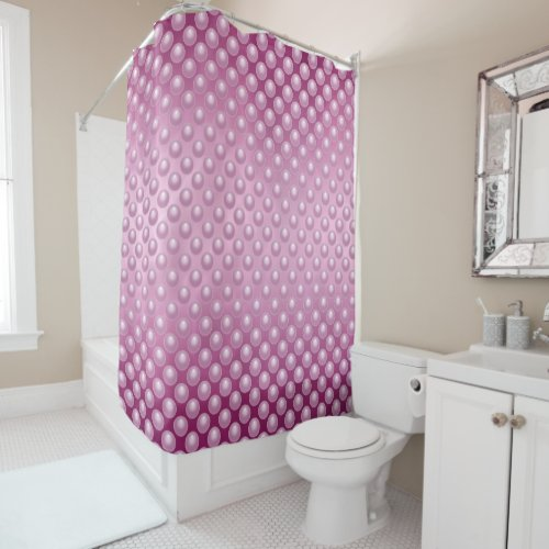 Fuchsia Marble Bubbles Shower Curtain
