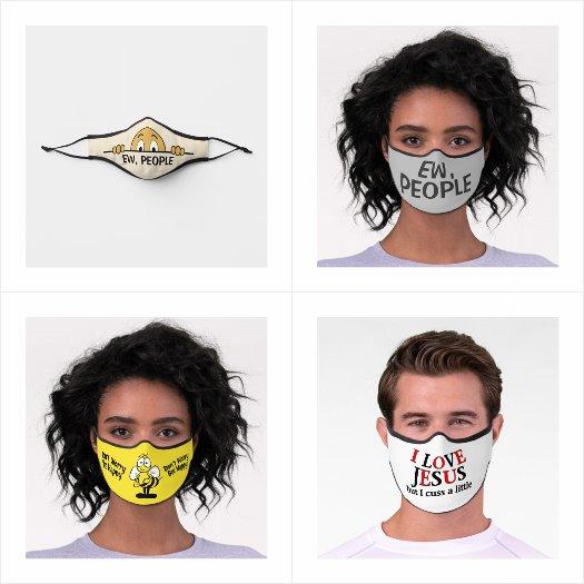 Fun and Funny Premium Face Masks