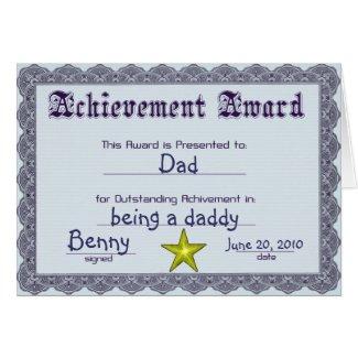 Fun Award Father's Day Card