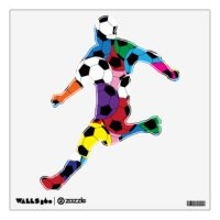 Soccer Player Wall Decals & Wall Stickers | Zazzle