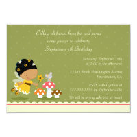 Fun cute fairy girl's birthday party invitation
