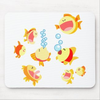 Fun in The Fish Tank Cartoon Mousepad mousepad