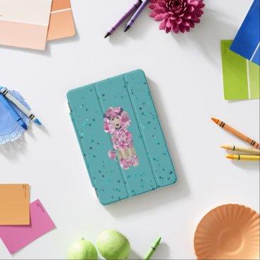 Fun Paint Splatter Poodle iPad Mini Cover