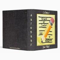 Fun! School Notebook Teacher/Student Binder | Zazzle.com