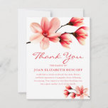 Pretty Pink Magnolia Funeral Sympathy Thank You Card