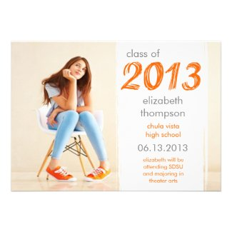 Funky Cool Class Of 2013 Graduation Announcement