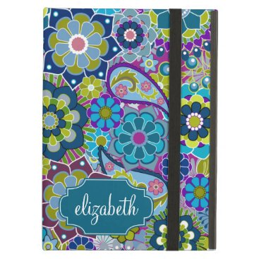 Funky Floral Pattern with Custom Name iPad Air Case