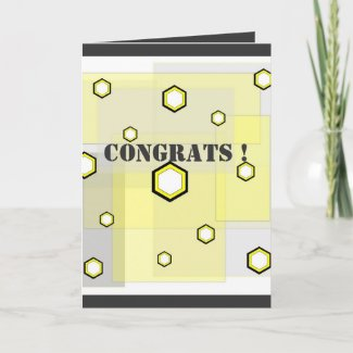 Funky hexagons - Card