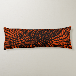 Funky Modern Zen Tangle Patterned Print Body Pillow