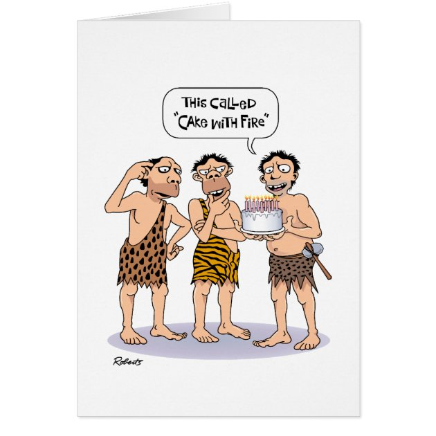 Funny 45th Birthday For Male Cake With Fire Card Zazzle
