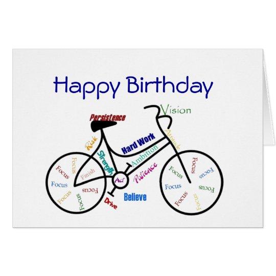 Funny Age Birthday Bike Cycling Sport Hobby Card