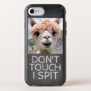 Funny Alpaca Llama Don't Touch I Spit Speck iPhone Case