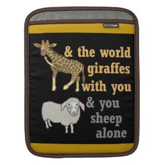 Giraffe and Sheep Wordplay Design