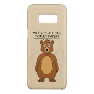 Funny Bear Out of Toilet Paper Case-Mate Samsung Galaxy S8 Case