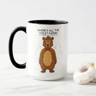 Funny Bear out of Toilet Paper Mug