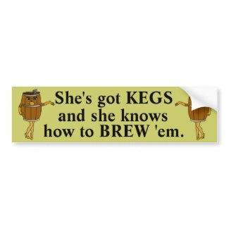 Funny Beer Brewer Bumper Stickers