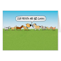 Funny Butt Sniffing Dogs Birthday Card
