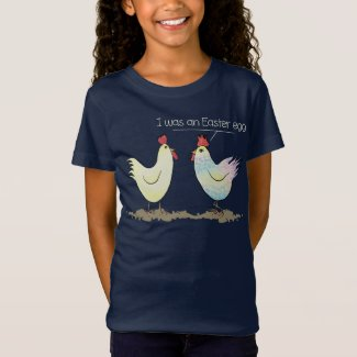 Funny Chicken was an Easter Egg Dark T-Shirt