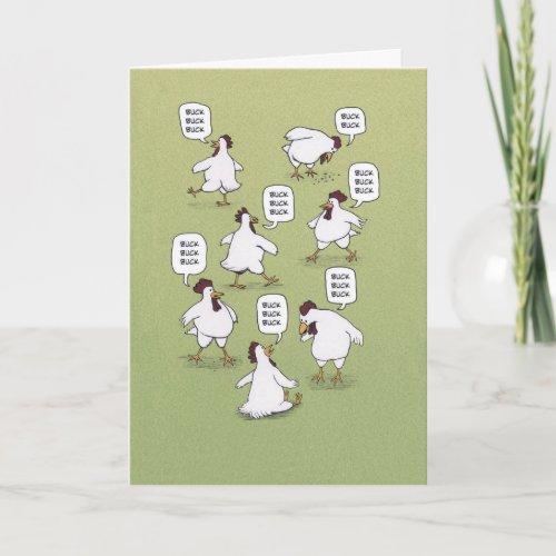 ❤️  Funny Twenty Bucks Chickens Birthday Card