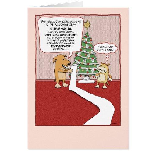 Funny Christmas Card Dogs Wish List Zazzle