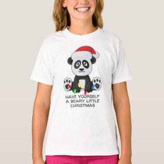 Funny Christmas Song Pun Panda T-Shirt