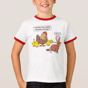 Funny Easter Bunny Chocolate Eggs T-Shirt
