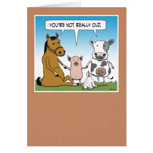 Funny Farm Animals Birthday Card Zazzle Com