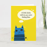 Funny So I Ate Him Cat Get Well Card