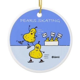 Funny Figure Skater Christmas Tree Ornament ornament
