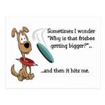 Funny Frisbee Postcard