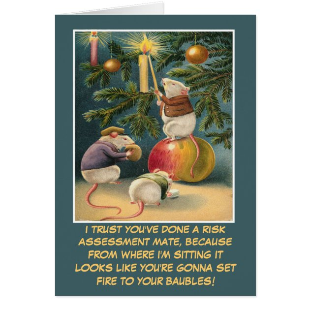 Funny Health And Safety Christmas Card Zazzle Com