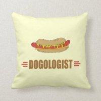 Hot Dog Pillows - Decorative & Throw Pillows | Zazzle