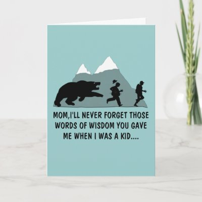 Funny Mom's birthday Greeting Cards by Cardsharkkid