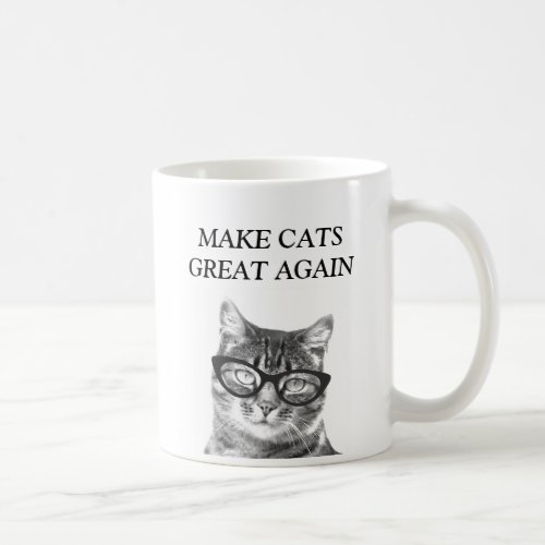 Funny mug for cat lover | Make Cats Great Again