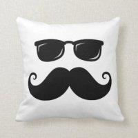 Mustache Pillows - Mustache Throw Pillows   Zazzle