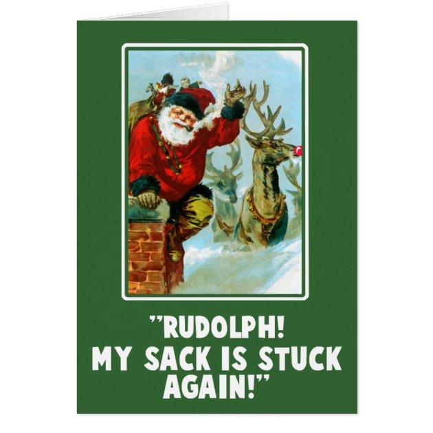Funny Offensive Innuendo Christmas Card Zazzle