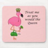 Funny Pink Flamingo Mousepad | Zazzle.com