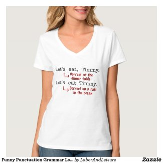 Funny Punctuation Grammar Lovers Timmy Humor T-Shirt