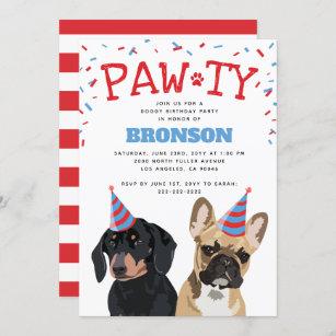 funny dog birthday invitations zazzle