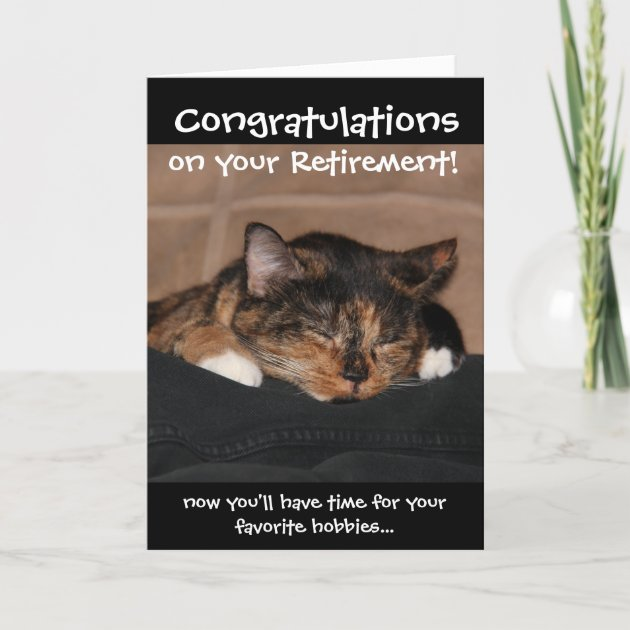 funny retirement card napping