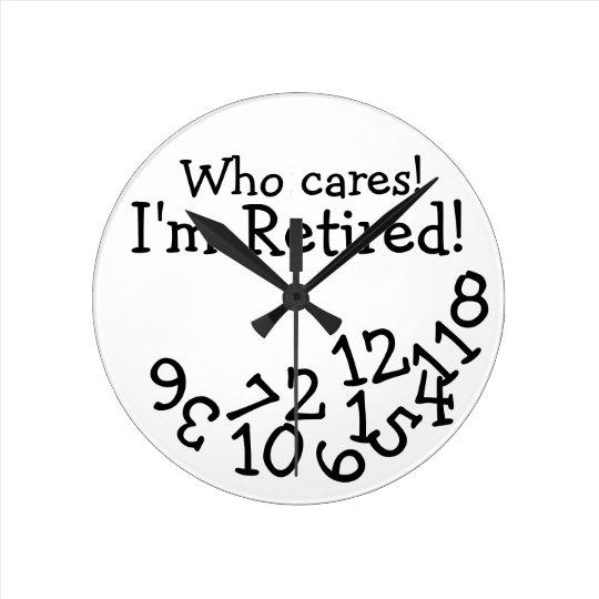 funny retirement clock who