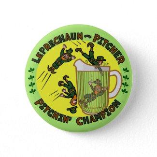 Leprechaun Toss Humor Picture Beer Pong