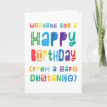 Funny Social Distancing Birthday Safe Distance Card
