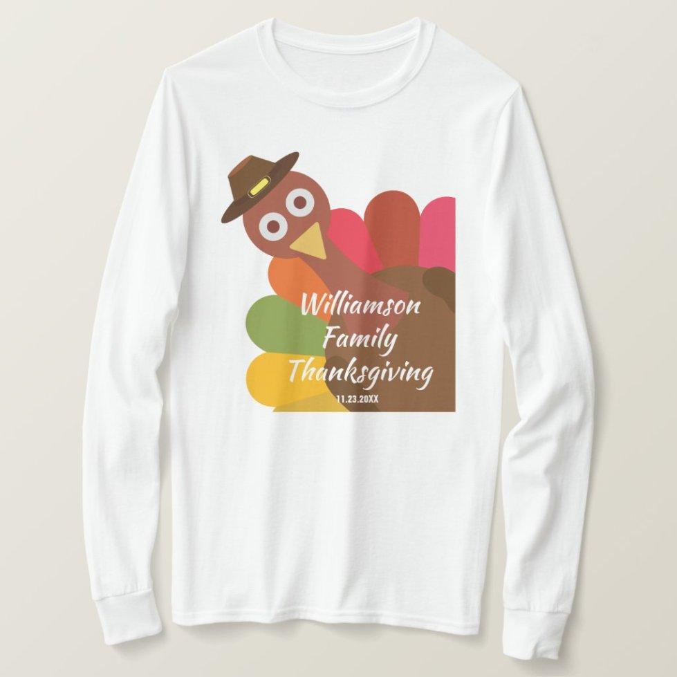 Funny Thanksgiving Turkey Matching Family Custom T-Shirt
