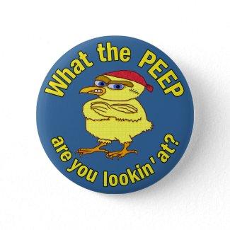 Peepin' Angry Chick Bird Humor